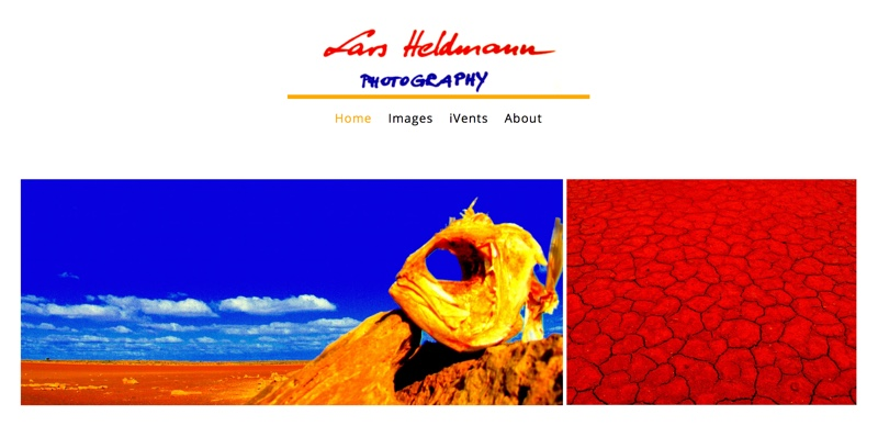 Lars Heldmann Photography website