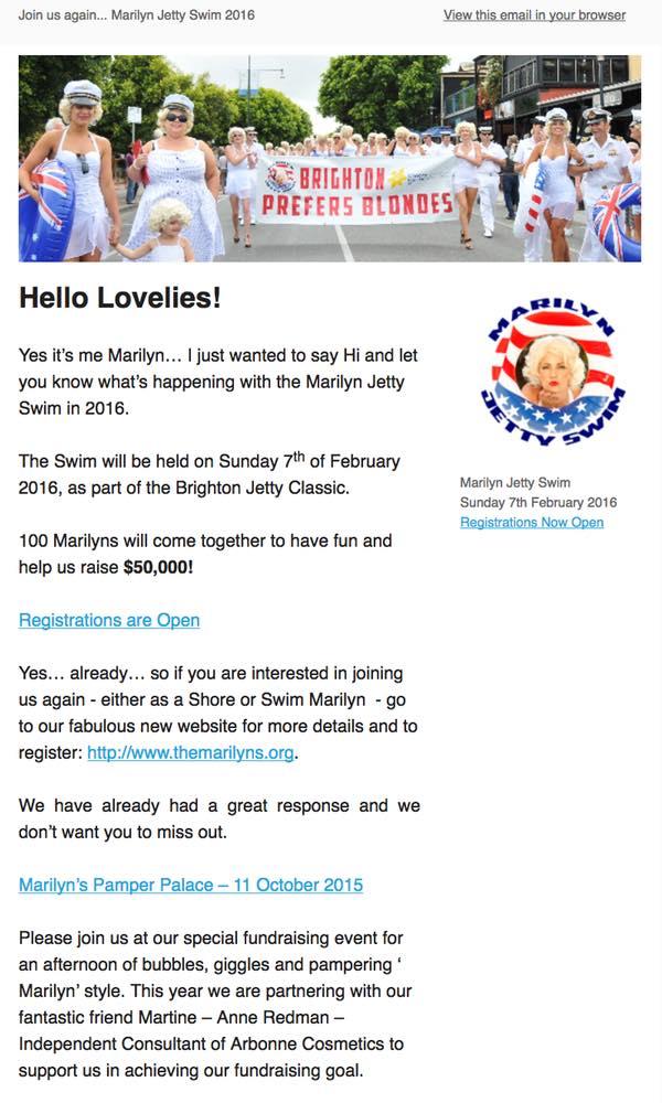 Marilyns newsletter