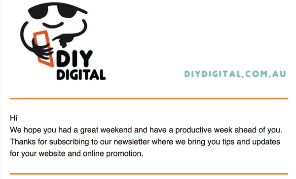 DIY Digital MailChimp Newsletter