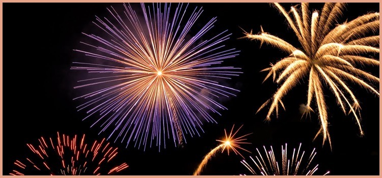 New Year Marketing Plan with Fireworks