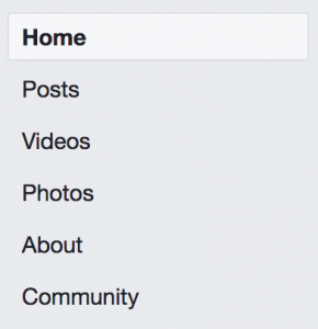 Facebook tabs default on all templates