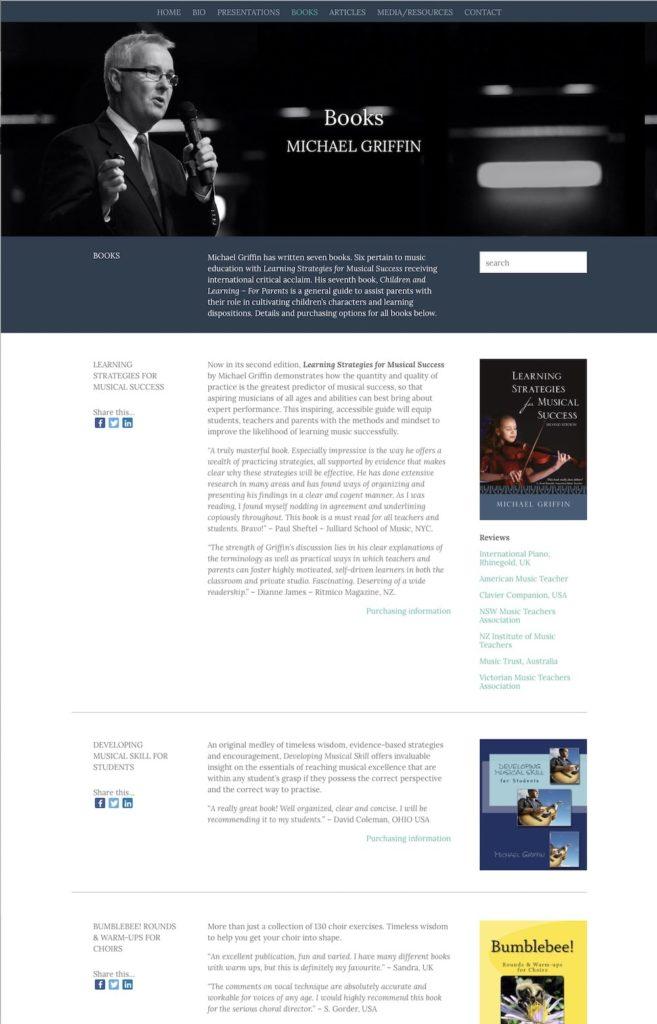 Professional Development - Michael Griffin