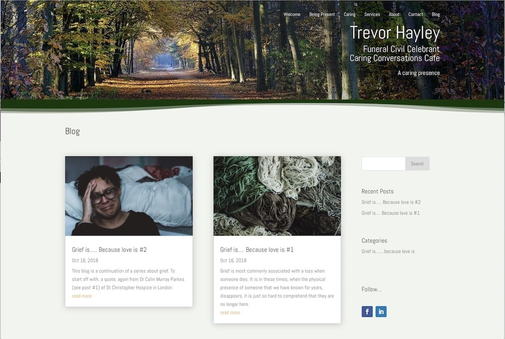 Trevor Hayley Funeral and Memorial Celebrant